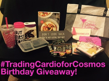 Trading Cardio for Cosmos Birthday Giveaway!